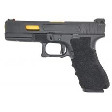 Army Custom Series R17 Series Gas Blowback Pistol (Black)