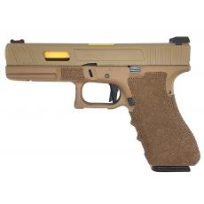 Army Custom Series R17 Series Gas Blowback Pistol (Tan)